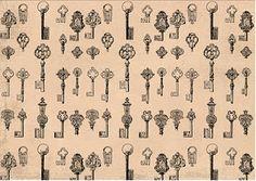 vintage keys background