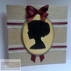 Canvas Cameo using Tonic Studios Ascot Pillbox and Lych Gate Wish Die Sets - an idea from Mandy (via Bloglovin.com )
