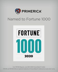 Primerica Announces Its Fortune 1000 Debut Life Insurance Quotes, Term Life Insurance, Affordable Life Insurance, Business Money, Business Ideas, Fortune Magazine, Business Opportunities, Finance