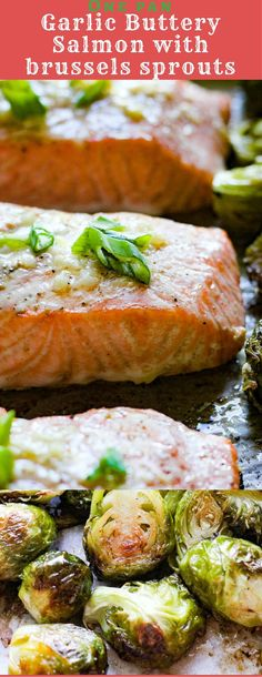 One pan buttery garlic salmon with Brussels sprouts recipe - BerryMaple