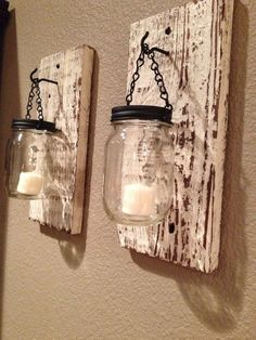 I purchased mason jars with candles in them months ago and now I have the exact idea of what to do with them! I purchased mason jars with candles in them months ago and now I have the exact idea of what to do with them!