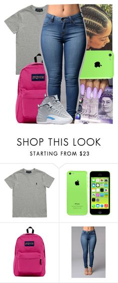 """""""Im just tryna get to know ya"""" by theyknowtyy ❤ liked on Polyvore featuring Ralph Lauren, JanSport and NIKE"""
