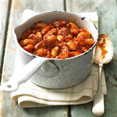 Butter bean and chorizo stew recipe     Alternative - add red wine ( 160ml) at stage 3. Leave out chillies..