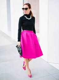 Image result for hot pink midi skirt