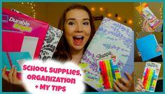 Back to School 101: Supplies Haul, Organization, + My Tips!