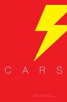 Cars - #Minimal #Icon #Movie #Poster #Design #Helvetica