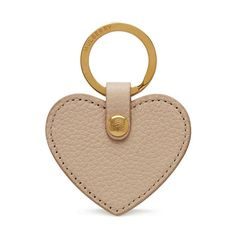 Shop the Heart Keyring in Powder Small Classic Grain at Mulberry.com. A favourite of the collection for many seasons, our leather heart keyring gives a nod to Mulberry's craft heritage with its simple design and visible stitching, finished with signature tree logo hardware.