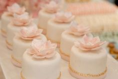 individual wedding desserts | Mini Cakes' as Wedding Centerpieces ~ Wedding Ideas and Collections
