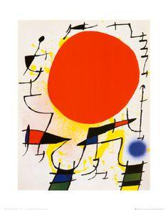 Joan Miró - Le soleil rouge