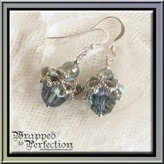 Swarovski Crystal Earrings / Lavender Blue by WrappedToPerfection, $28.00