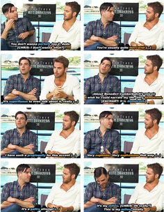 They have vocabulary battles: | Zachary Quinto And Chris Pine's Bromance Is The Best Bromance