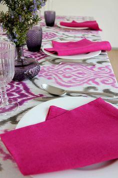 York Ciruela - Urrea Mantelerias Malva, Wedding Decoration, Gray Decor, Hot Pink, Colors