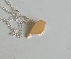 Tiny Yellow Bird Necklace. $28.00, via Etsy.