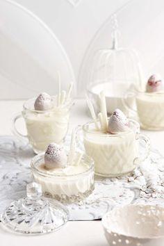 white chocolate vanilla strawberry panna cotta