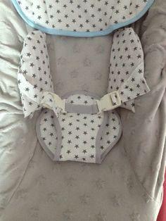 Housse pour transat bébé - relooking transat - étoiles et gris.... - Miiflore couture