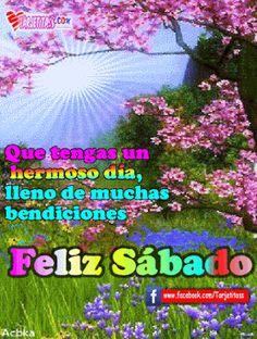 FELIZ SÁBADO - Hermosas tarjetas animadas gif, con mensajes y frases para compartir. - Tarjetas - Postales - Wallpapers - Imágenes, Fotos, Roses, Fondo de Pantalla