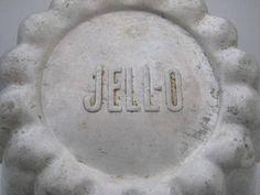 Vintage Jell-O Marked Mold Aluminum jello dessert mold