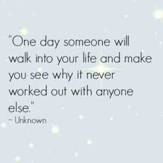 it wasn't meant to be with anyone else!  Xo