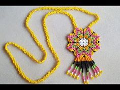 We will share a very good example of Miyuki jewelry. At home jewelry design . Beaded Jewelry Patterns, Handmade Jewelry Designs, Embroidery Jewelry, Beading Patterns, Beading Projects, Beading Tutorials, Beaded Earrings, Beaded Bracelets, Design Youtube
