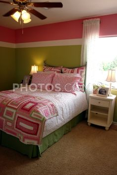 Pink & Green painted wall