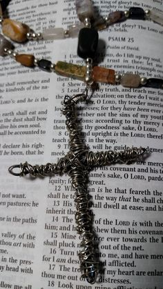 Handcrafted Anglican Rosary Mixed Gemstone Protestant Prayer Beads