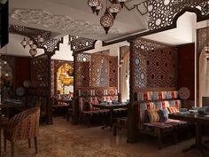 Restaurant Interior Design, Shop Interior Design, Cafe Design, Restaurant Layout, Deco Restaurant, Hookah Lounge Decor, Hindus, Resturant Interior, Moroccan Restaurant