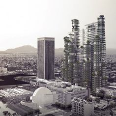 "MAD proposes conceptual ""vertical village"" for LA as alternative to sprawl"