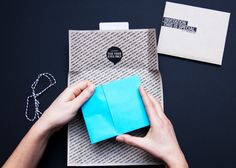 Typographic and uniquely packaged invitation