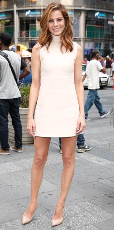 Michelle Monaghan in a Calvin Klein Collection number.