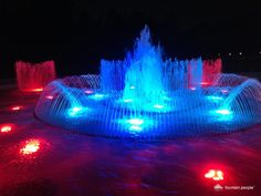 In 2013 we renovated Garfield Park and we designed these bright and colorful LED fountains, now being enjoyed by the public!