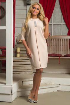 Стильное и модное бежевое платье