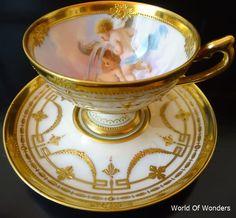 <ご注文品> ドイツ製 ドレスデン ラム工房 天使のカップ&ソーサー - わ~るどおぶわんだ~ず Coffee Set, Coffee Cups, Antique Tea Cups, Tea Cup Saucer, Vintage Tea, Afternoon Tea, Bone China, Tea Time, Tea Party
