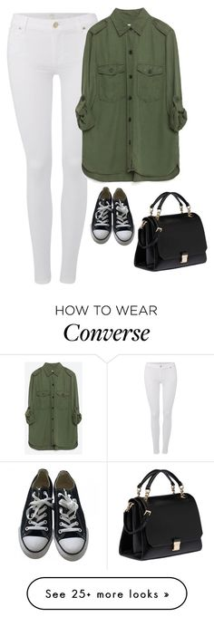 """Sin título #3850"" by xoxominyeol on Polyvore featuring 7 For All Mankind, Zara, Converse and Miu Miu"