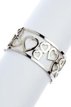 18.00 -- Silver Heart Bangle by t+j Designs on @HauteLook