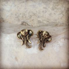 Elephant Studs from Pretty Clear Indie Brands, Studs, Cufflinks, Detail, Elephants, Earrings, Stuff To Buy, Jewellery, Accessories