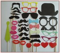 DIY Photo Booth Props Hat Mustache lip glasses On A Stick Wedding Birthday Party Moustache, Mustache Party, Christmas Birthday, Birthday Fun, Birthday Party Themes, Birthday Ideas, Party Fotos, Wedding Photo Booth Props, Photos Booth