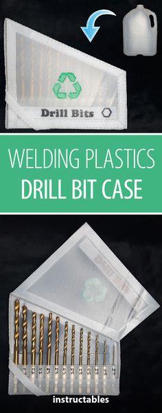 Welding Plastics: Drill Bit Case  #upcycle #reuse #storage #organization