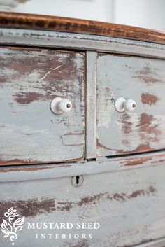 Distressed dresser makeover - Miss Mustard Seed
