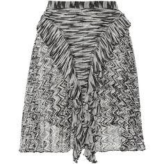 Isabel Marant Meg ruffled silk-chiffon mini skirt (4 445 ZAR) ❤ liked on Polyvore featuring skirts, mini skirts, black, ruffle pleated skirt, pleated skirt, short frilly skirt, ruffle skirt and short pleated skirt