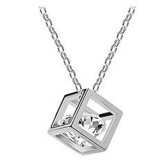 z&x® collier pendentif européen en alliage forme cubique multicolore (or, blanc) (1 pc) – EUR € 1.88