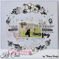 Are you thinking about subscribing to one of our Scrapbooking or Card Making Kits? Check out what our past kits have looked like Scrapbook Examples, Scrapbook Page Layouts, Scrapbook Pages, Card Making Kits, Creative Colour, Wedding Scrapbook, Photo Layouts, Making Memories, Scrapbook Supplies