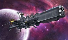 The Arcadia - Space Pirate Captain Harlock Hobbies For Adults, Hobbies To Try, The Stars My Destination, Space Pirate Captain Harlock, Sci Fi Anime, Space Story, Japanese Cartoon, Science Fiction Art, Cartoon Pics