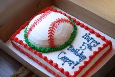 baseball birthday cake | This cake was SO much fun to make! Cooper is having his baseball team ...