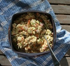 Dutch Coleslaw with carrots, apples and raisins