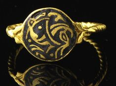 Medieval gold rind with niello, Saxon period, 9th century