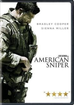 Available in: DVD.Biopic of Chris Kyle (Bradley Cooper), the most-celebrated sniper in American military history. Bradley Cooper, Sienna Miller, New Movies, Movies And Tv Shows, Watch Movies, Luke Grimes, Chris Kyle, Hurt Locker, Brothers In Arms