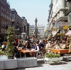 Vienna Austria, Luxury Travel, Vintage Photos, Retro Vintage, Street View, Terraces, Wall, Food, Architecture Sketches