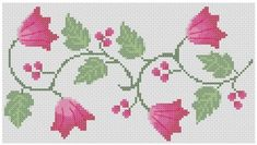 Items similar to Flower Line - Cross Stitch Pattern on Etsy Cross Stitch Heart, Cross Stitch Borders, Cross Stitch Patterns, Heart Border, Border Pattern, Bead Shop, Cross Stitch Embroidery, Needlepoint, Kids Rugs