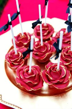 Red Rose Cake Pops Birthday Party Ideas - Blog The Party-Wagon
