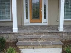 stone on front porches - Google Search